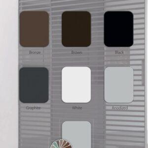 Стеклянно алюминиевые двери модель Clear