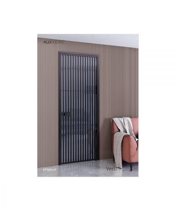 Стеклянно алюминиевые двери модель Verti