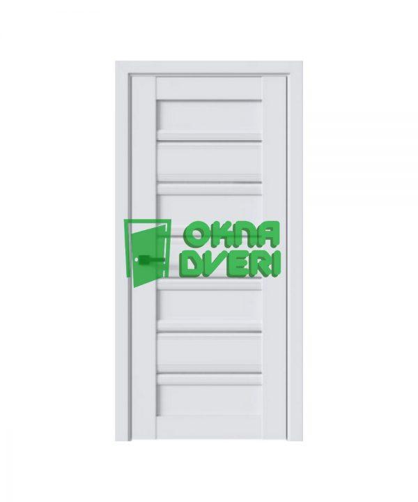 Межкомнатные двери Венеция С1 ПВХ DeLuxe арктик мат со стеклом сатин